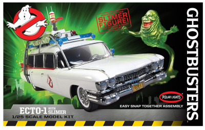 Ghostbusters Ecto-1A With Slimer Figure - AMT
