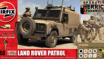 Gift Set military A50121 - British Forces - Land Rover Patrol (1:48)