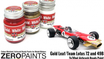 Gold Leaf/Team Lotus 72 Paint Set 3x30ml - Zero Paints