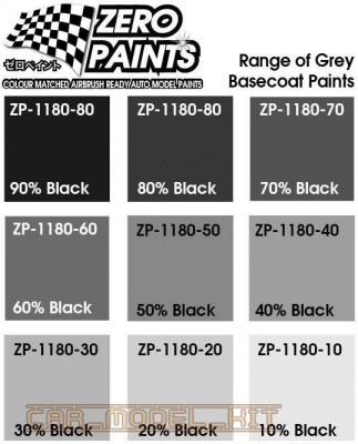 Grey Basecoat Shades-Colour Shade 60% Black - Zero Paints
