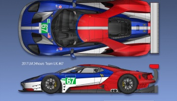 Ford GT GTE 2017 Proportion Kit 1/12 - Model Factory Hiro