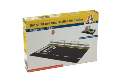 GUARD RAIL and ROAD SECTION FOR DISPLAY (1:24) - Italeri