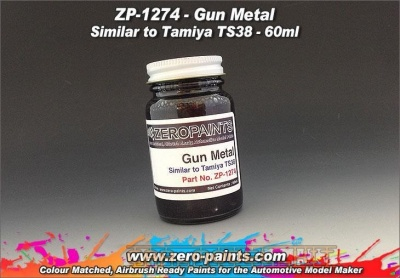 Gun Metal - Similar to Tamiya TS38 - Zero Paints