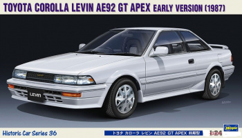 Toyota Corolla Levin AE92 GT Apex Early Version (1987) 1/24 - Hasegawa