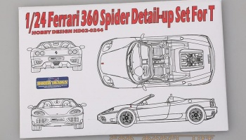 Ferrari 360 Spider Detail-up Set For T - Hobby Design