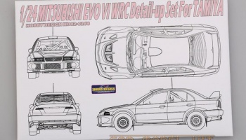 Mitsubishi EVO VI WRC Detail-up Set For Tamiya - Hobby Design