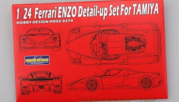 Ferrari ENZO Detail-up Set For Tamiya - Hobby Design