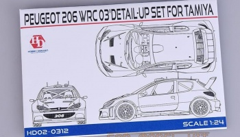 "Peugeot 206 WRC 03"" Detail-UP Set For T - Hobby Design"