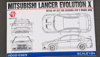 Mitsubishi Lancer Evolution X Detail-UP Set For A - Hobby Design