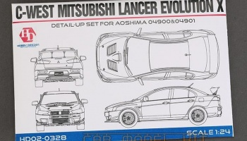 C-WEST Mitsubishi Lancer Evolution X Detail-UP Set For A 04900&04901 - Hobby Design