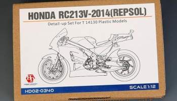Honda RC213V-2014 (Repsol) Detail-UP Set For T 14130 Plastic Models - Hobby Design