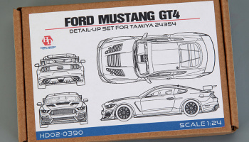 Ford Mustang GT4 For Tamiya (24354)(PE+Resin+Metal parts 1/24 - Hobby Design