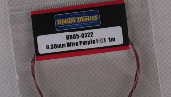 Drát 0.38mm Wire (Purple) 1m - Hobby Design