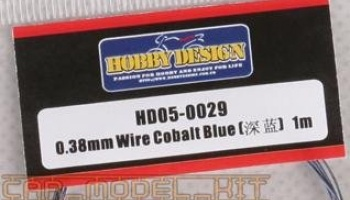 Drát 0.38mm Wire (Cobalt Blue) 1m - Hobby Design