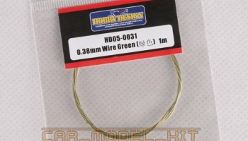 Drát 0.38mm Wire (Green) 1m - Hobby Design