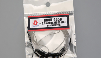 Braided line Black 0,6mm-2m - Hobby Design