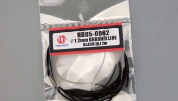 Braided line Black 1,2mm-2m - Hobby Design