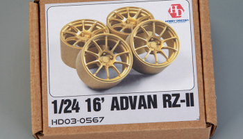 16' ADVAN RZ-II Wheels 1/24 - Hobby Design