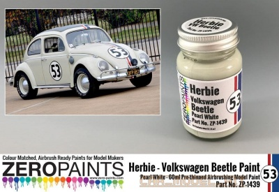 Herbie #53 Volkswagen Beetle Paint 60ml - Zero Paints