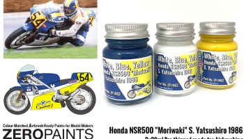 "Honda NSR500 ""Moriwaki"" S. Yatsushiro 1986 Paints 3x30ml - Zero Paints"