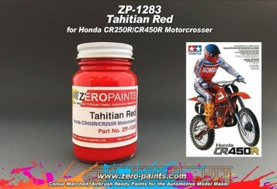 Honda Tahitian Red CR250R/CR45R Motocrosser Bikes (Tamiya) 60ml - Zero Paints
