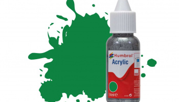 Humbrol barva akryl DB0002 - No 2 Emerald Green - Gloss - 14ml