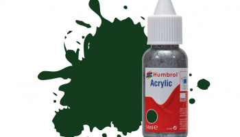 Humbrol barva akryl DB0003 - No 3 Brunswick Green Gloss - 14ml