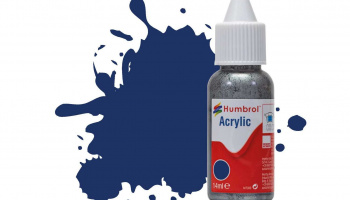 Humbrol barva akryl DB0015 - No 15 Midnight Blue - Gloss - 14ml