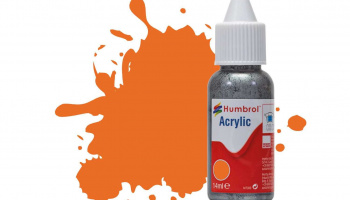 Humbrol barva akryl DB0018 - No 18 Orange - Gloss - 14ml