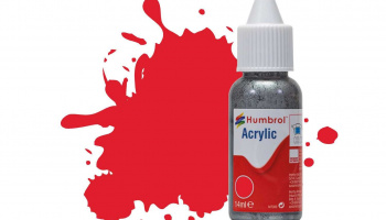 Humbrol barva akryl DB0019 - No 19 Red - Gloss - 14ml