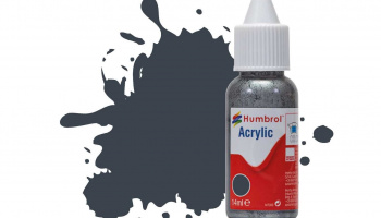 Humbrol barva akryl DB0032 - No 32 Dark Grey - Matt - 14ml