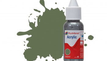 Humbrol barva akryl DB0102 - No 102 Army Green - Matt - 14ml