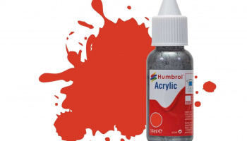 Humbrol barva akryl DB0174 - No 174 Signal Red - Satin - 14ml