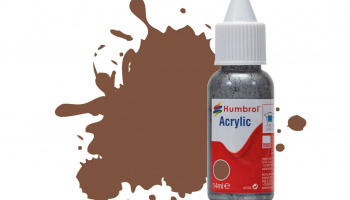 Humbrol barva akryl DB0186 - No 186 Brown - Matt - 14ml