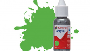 Humbrol barva akryl DB0208 - No 208 Fluorescent Signal Green Gloss - 14ml
