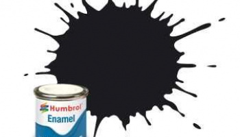 Humbrol barva email AA0936 - No 85 Coal Black - Satin - 14ml