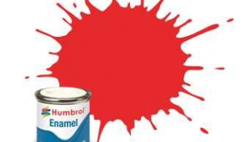 Humbrol barva email AA7105 - No 209 Fluorescent Fire Orange - Gloss - 14ml