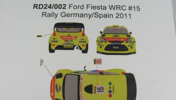 Ford Fiesta WRC #15 Rally Germany/Spain 2011 - Racing Decals 43