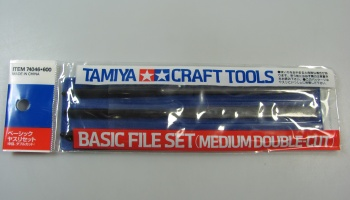 Basic File Set Medium Double Cut - Tamiya