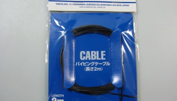 Piping Cable 1 mm Black - Tamiya