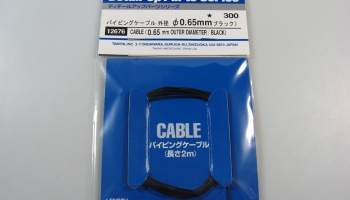 Piping Cable 0,65 mm Black - Tamiya