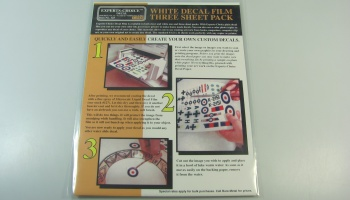 White Laser Color Decal 3 pcs - Bare Metal