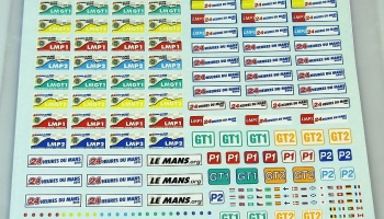 Plates 24 Heures LeMans 2007, 2008, 2009, 2010 - COLORADODECAL