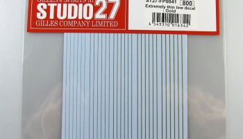 Extremely Thin Line Decal GOLD - Studio27