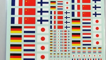 Flags France, China, Finland, Germany, Holland, Japan - COLORADODECAL