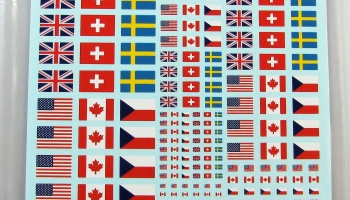 Flags USA, United Kingdom, Switzerland, Canada, Czech Republic - COLORADODECAL