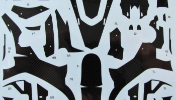 Yamaha YZF-R1M Carbon Decal for Tamiya 14133 - Studio27
