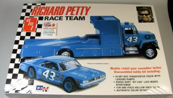 Richard Petty Team Dodge Dart Sportsman Race Car- Ford LN Hauler Truck - AMT
