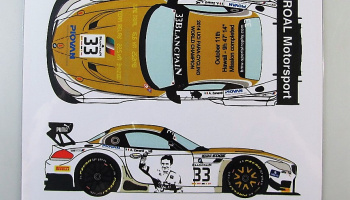 BMW Z4 GT3 #33 BSS Zolder Roal Motorsport 2014 - Racing Decals 43
