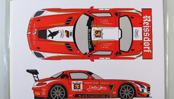 Mercedes SLS GT3 #63 Total 24h Spa 2014 - Racing Decals 43